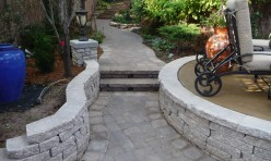 concrete pavers - retaining wall