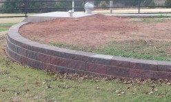 retaining wall in Oklahoma