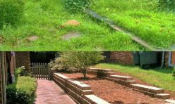 Before and After Retaining Wall OKC