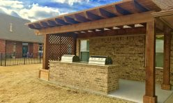 Outdoor Kitchen and Pergola in OKC